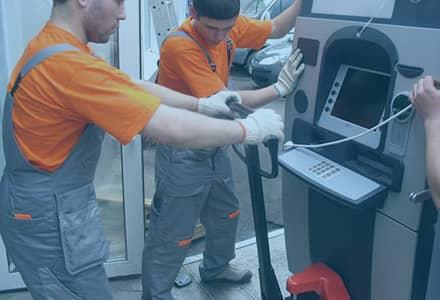 Перемещение банкоматов и терминалов в СПб