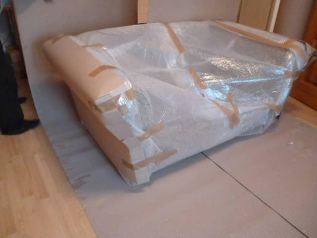 как упаковать диван
