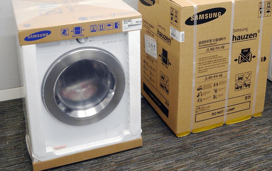 как упаковать стиральную машину